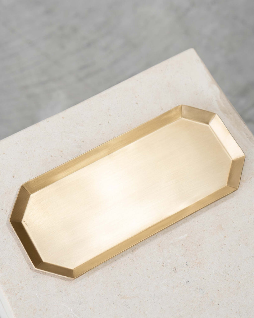 Hexa Brass Candle Tray