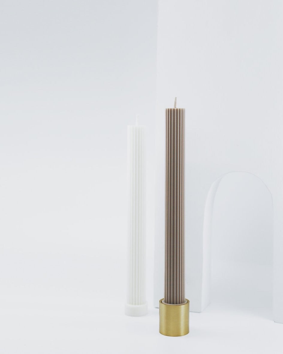 Brass Candle & Incense Holder