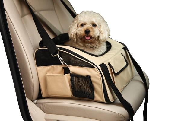 Ultra Lock Collapsible Safety Travel Wire Folding Pet Car Seat Carrier