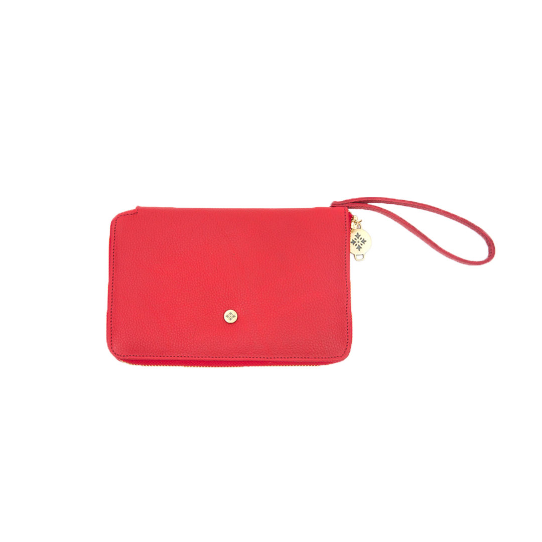 Clutch Billetera Rojo