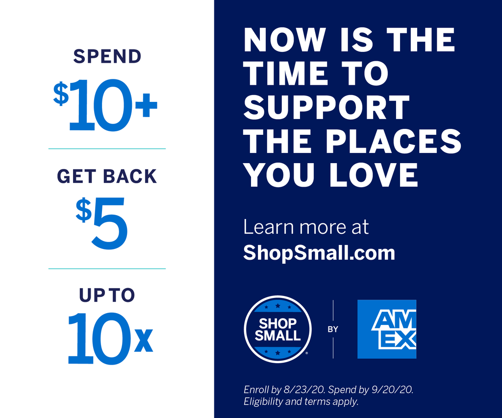 It's that time of the year again - Shop Small! Spend $10 and get $5 back at UC