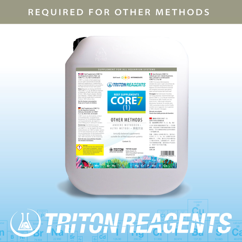 Triton CORE7 Reef Supplements- Bulk 4x5L For other (non-Triton) methods NEW! All liquid
