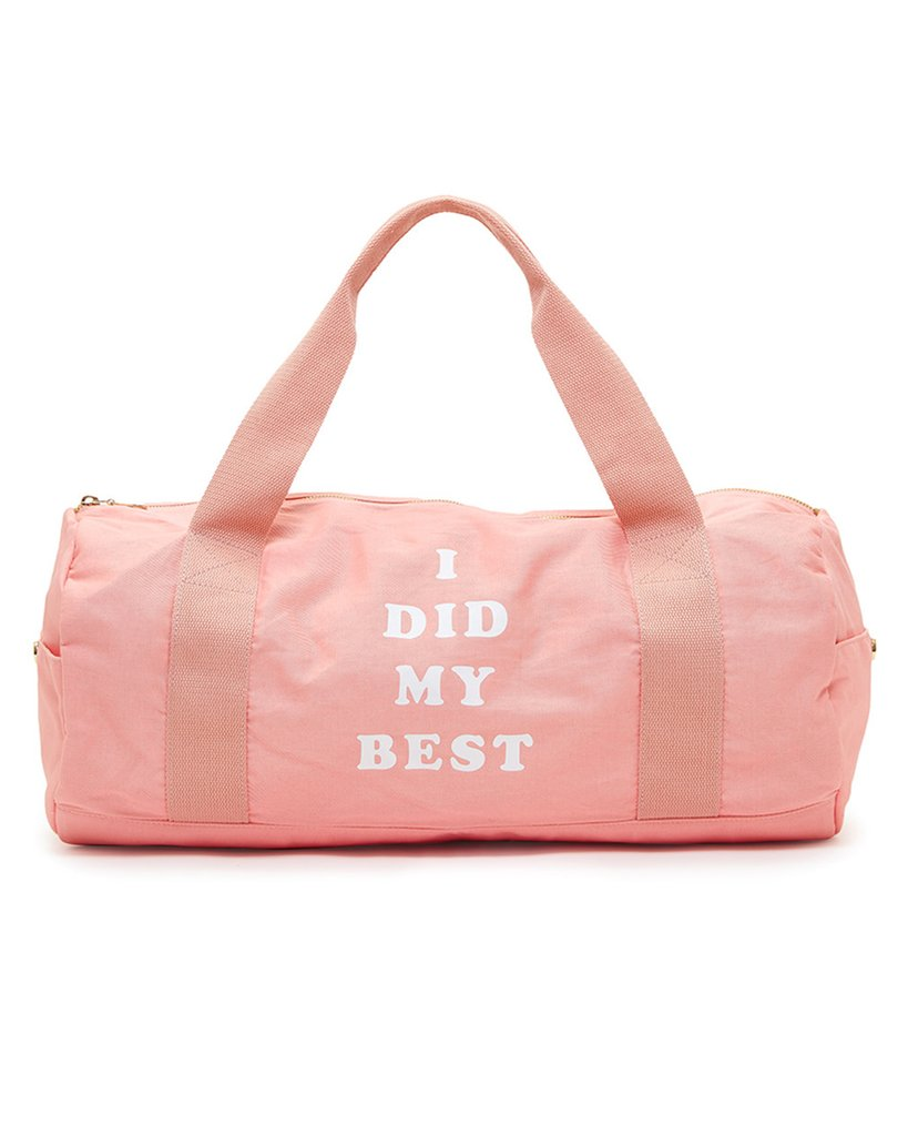 Pink gym bag completes your gym look