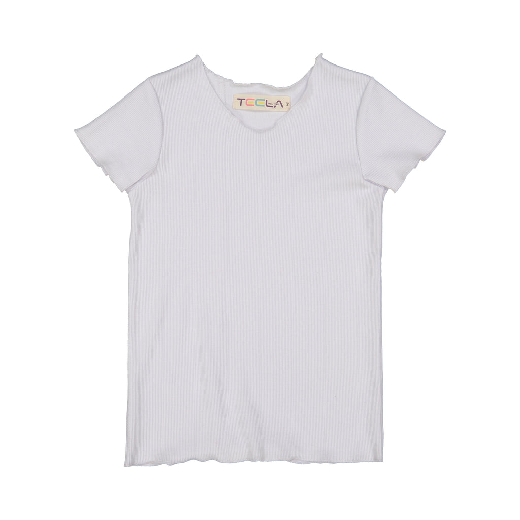 Teela White Rib Basic Shirt