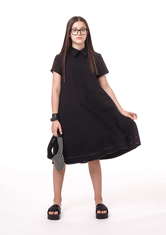2ru2ra Black Collar Dress