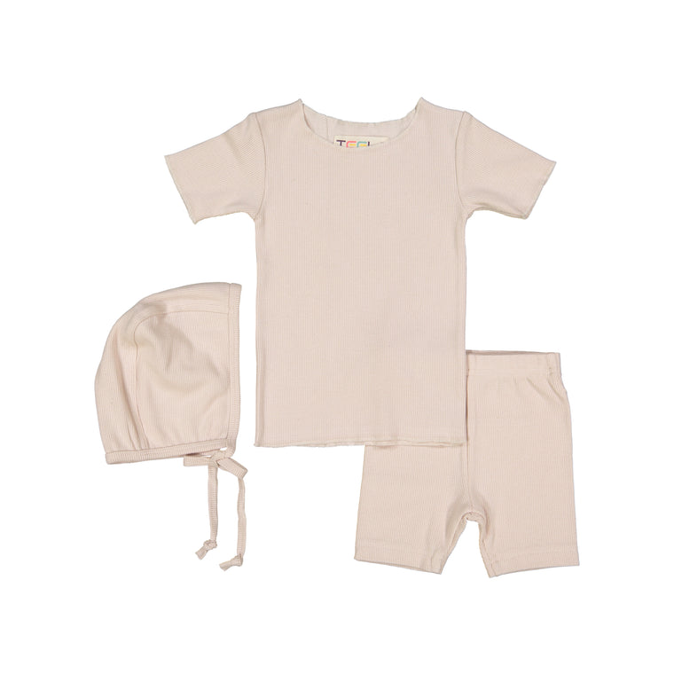 Teela Cream Rib Baby Set