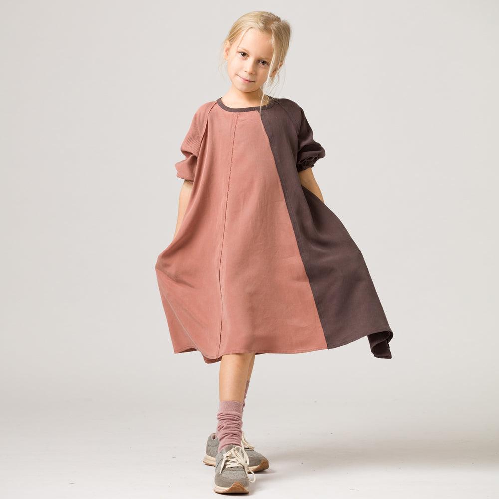 ACBC Pink/Brown Two Tone Dress