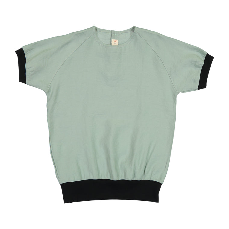 Nove Green Shirt With Ribbed Edging