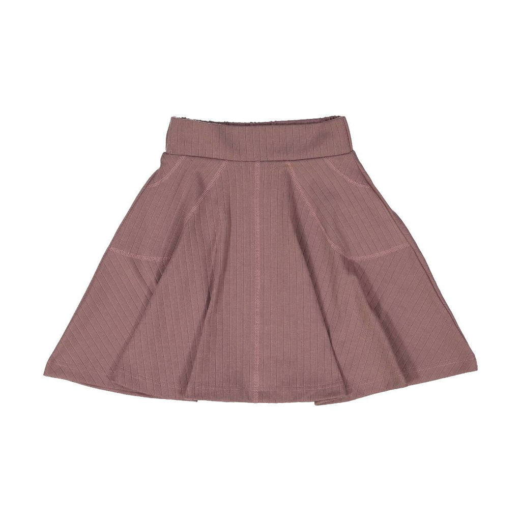 Teela Mauve Rib Circle Skirt