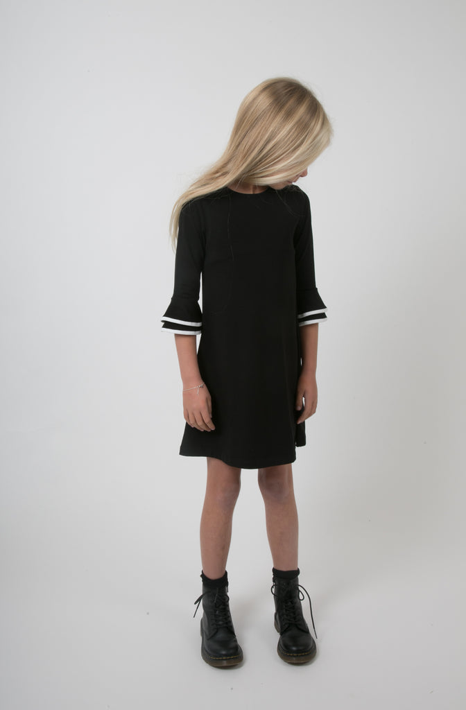 Carbon Soldier Black/Ivory Dummy Pass Dress