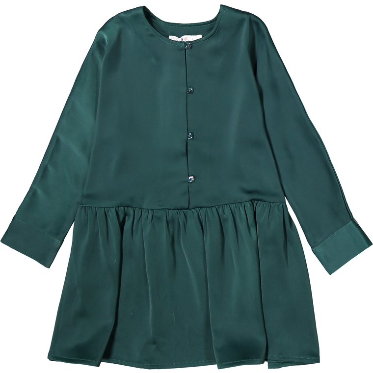 Coco Blanc Emerald Green Swing Dress