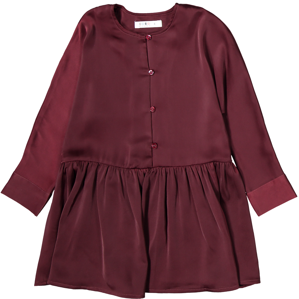 Coco Blanc Maroon Swing Dress