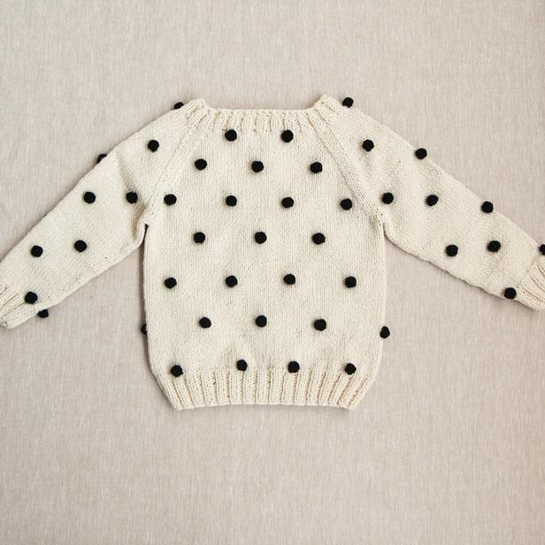 Kalinka Knits Natural Dot Viola Sweater