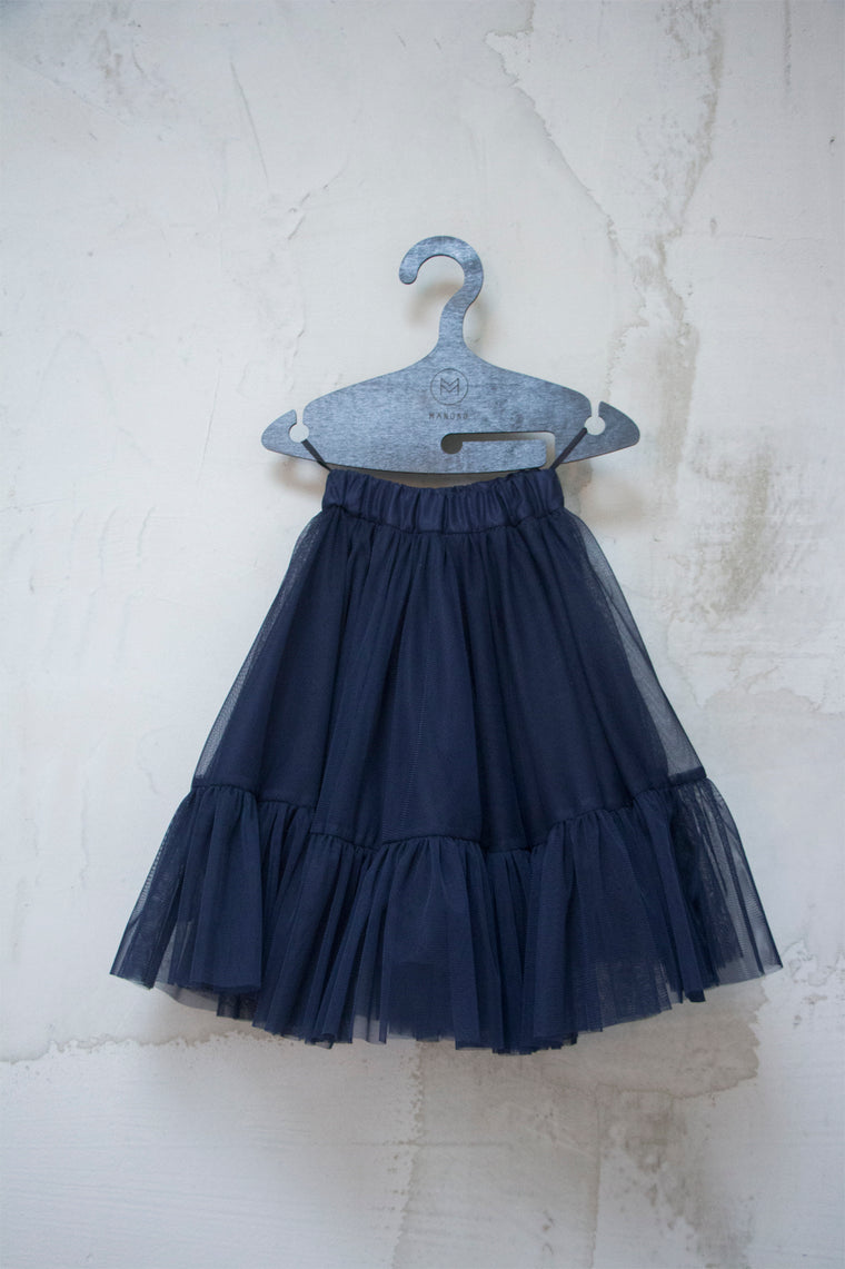 Manoko Navy Sheer Skirt
