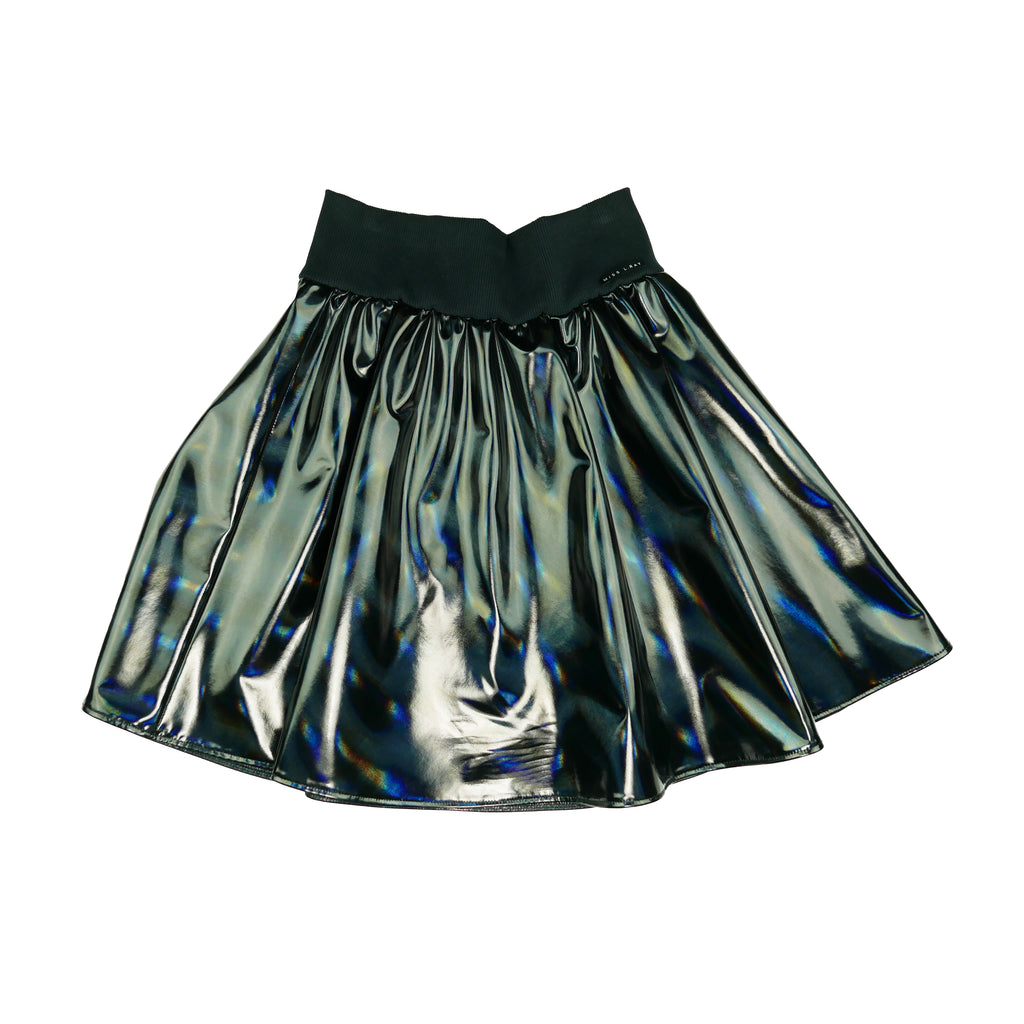 Miss L Ray Black Metalic Lila Skirt