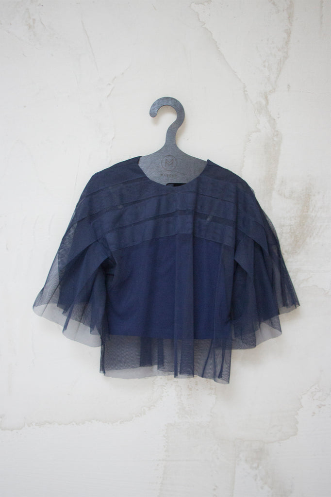 Manoko Navy Sheer Blouse