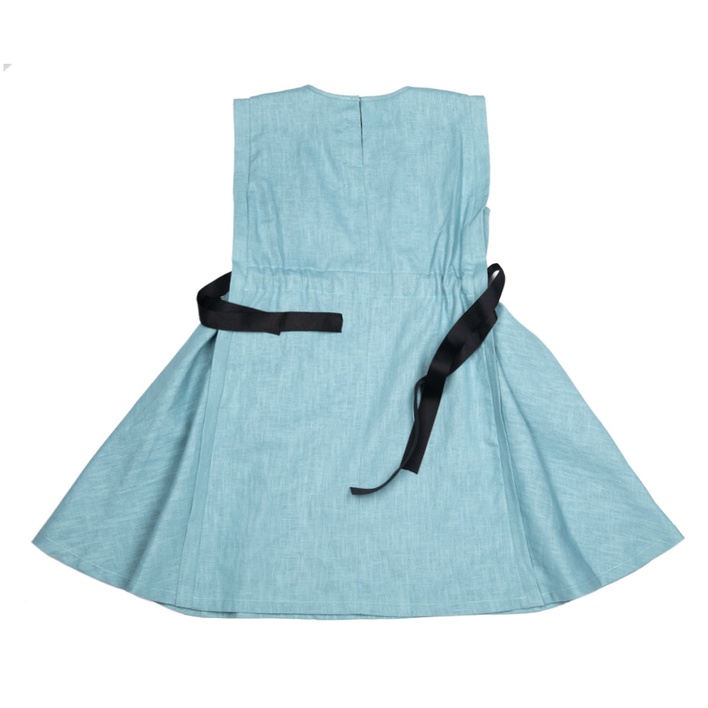 ACBC Light Blue 3 Forms Belted Dress