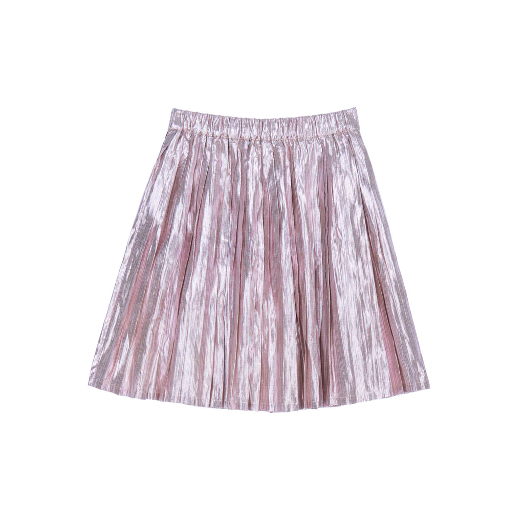 Velveteen Gold/Pink Paola Pleated Skirt