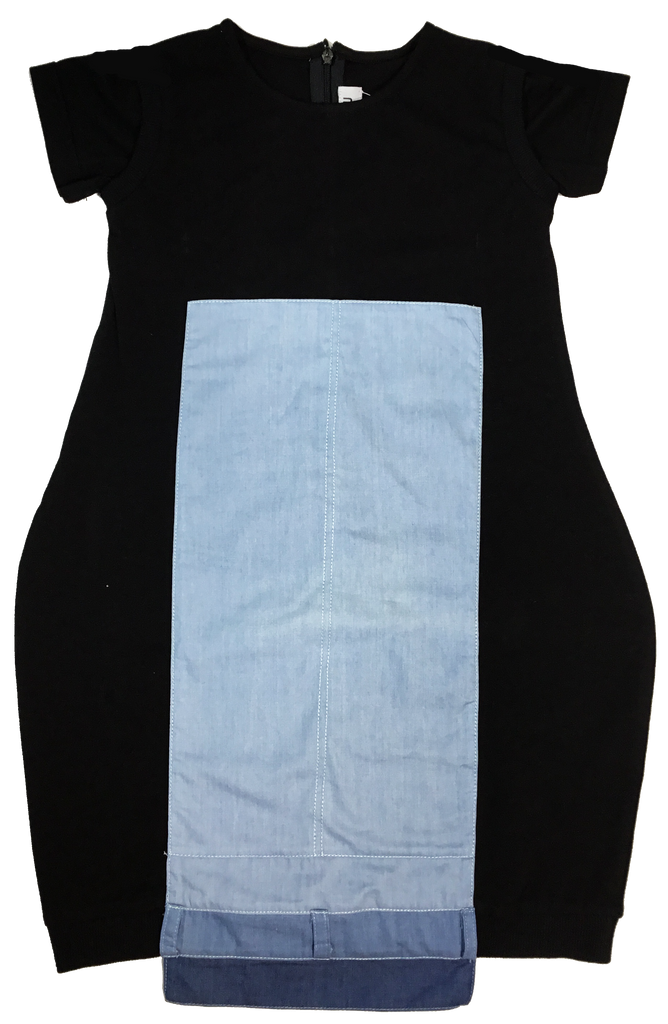 Crew Denim Panel Dress