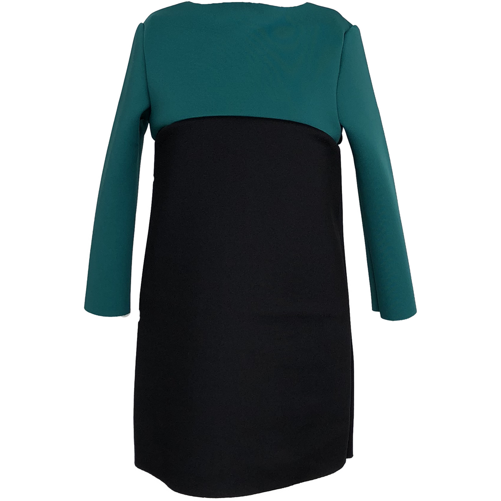 Amelia Blue/Green Two Tone Dress