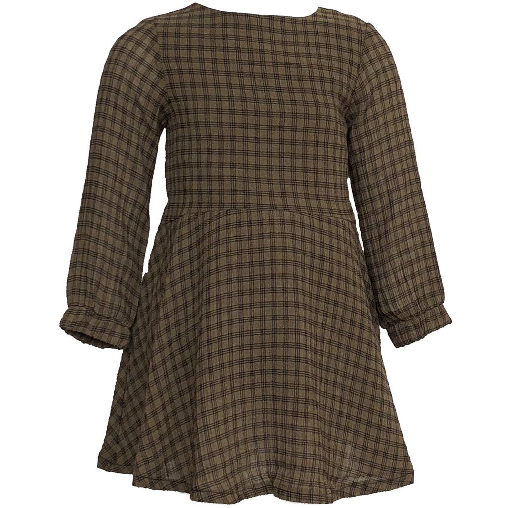 Amelia Brown Plaid Dress