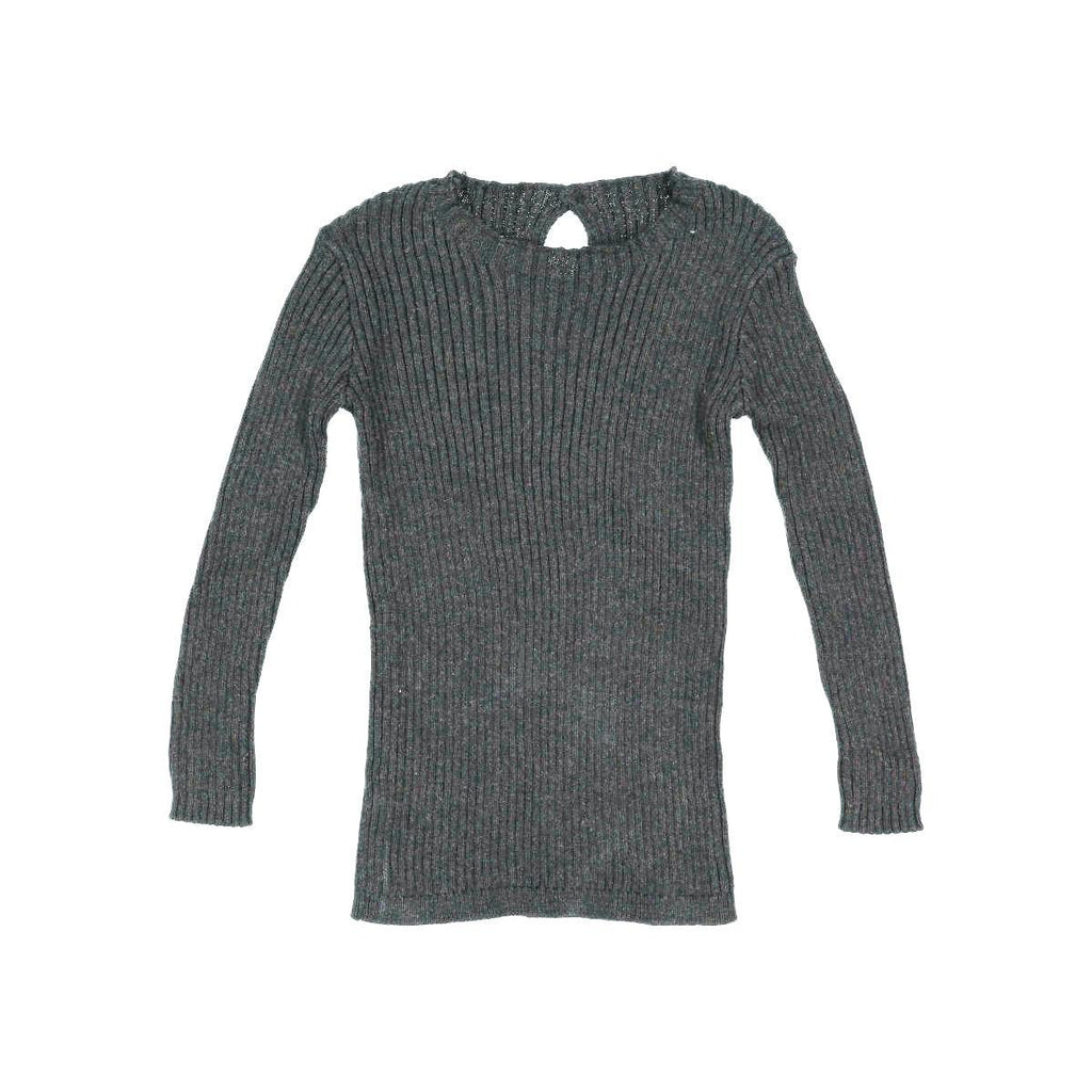 Analogie By Lil Leggs Heather Grey Rib Knit Sweater