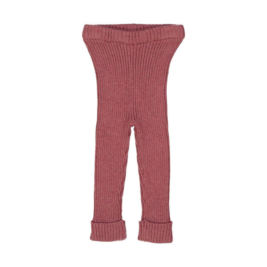 Analogie By Lil Leggs Mauve Rib Knit Leggings