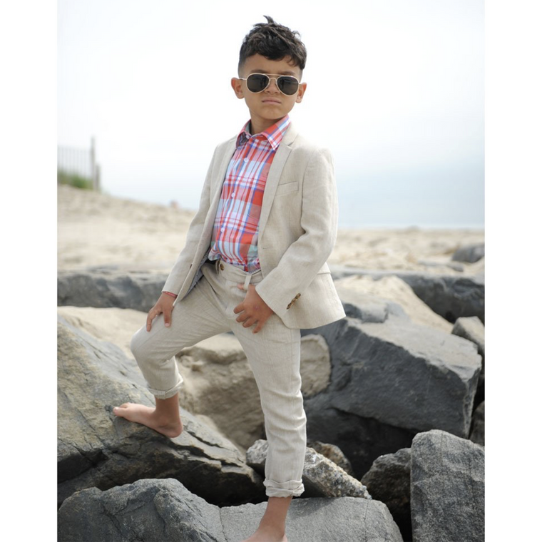 Appaman Kahki Herringbone Two Piece Mod Suit