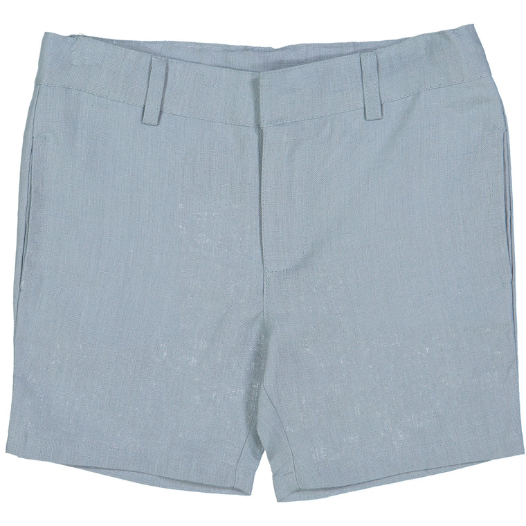 Analogie by Lil Leggs Aqua Linen Shorts