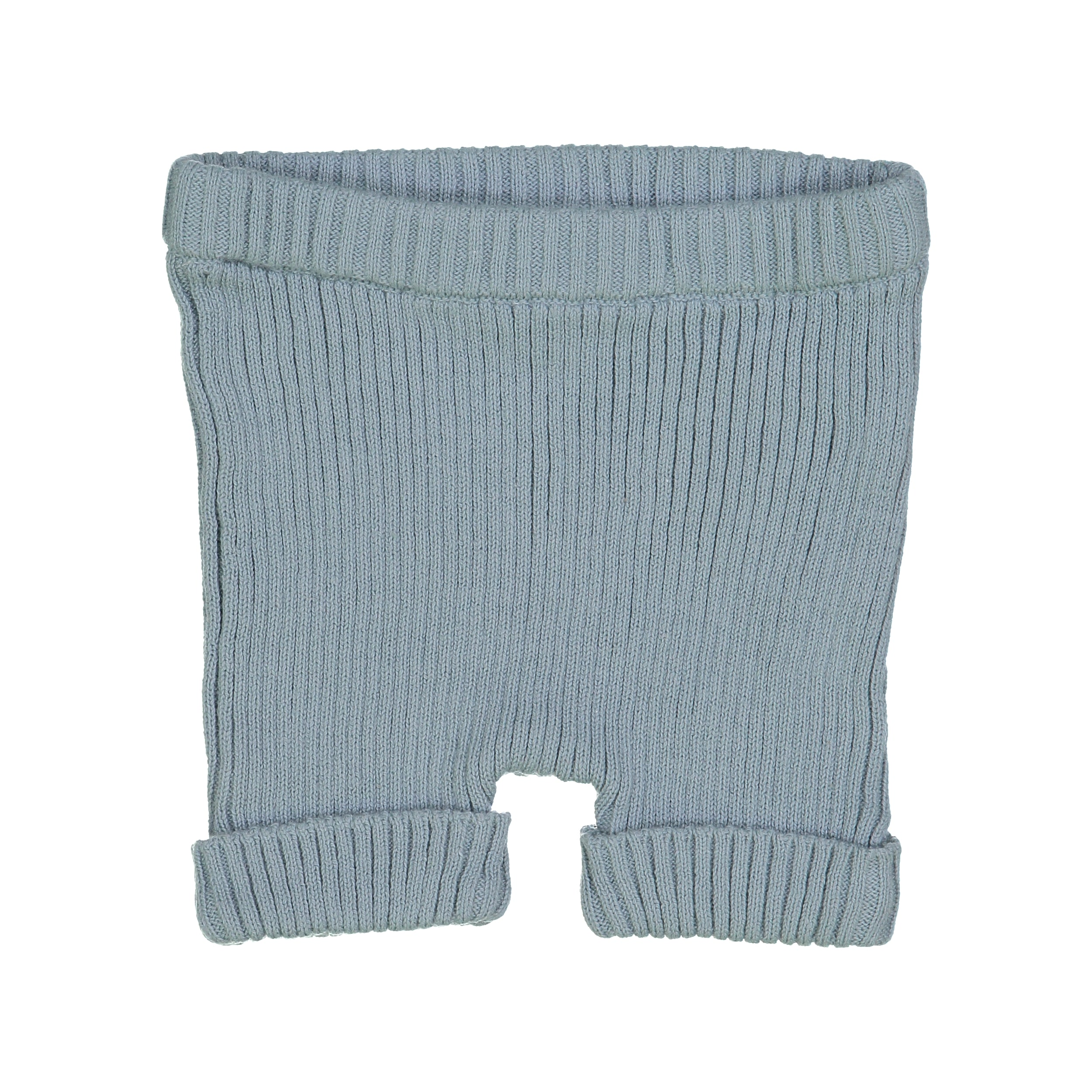 Analogie by Lil Leggs Aqua Ribbed Knit Shorts