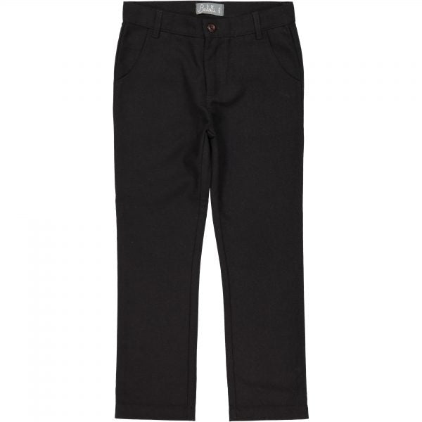 Belati Black Wool Slim Fit Pants