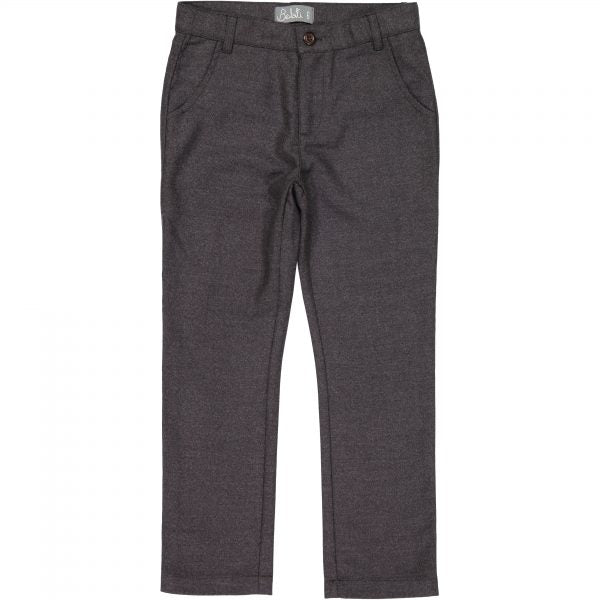 Belati Charcoal Wool Slim Fit Pants