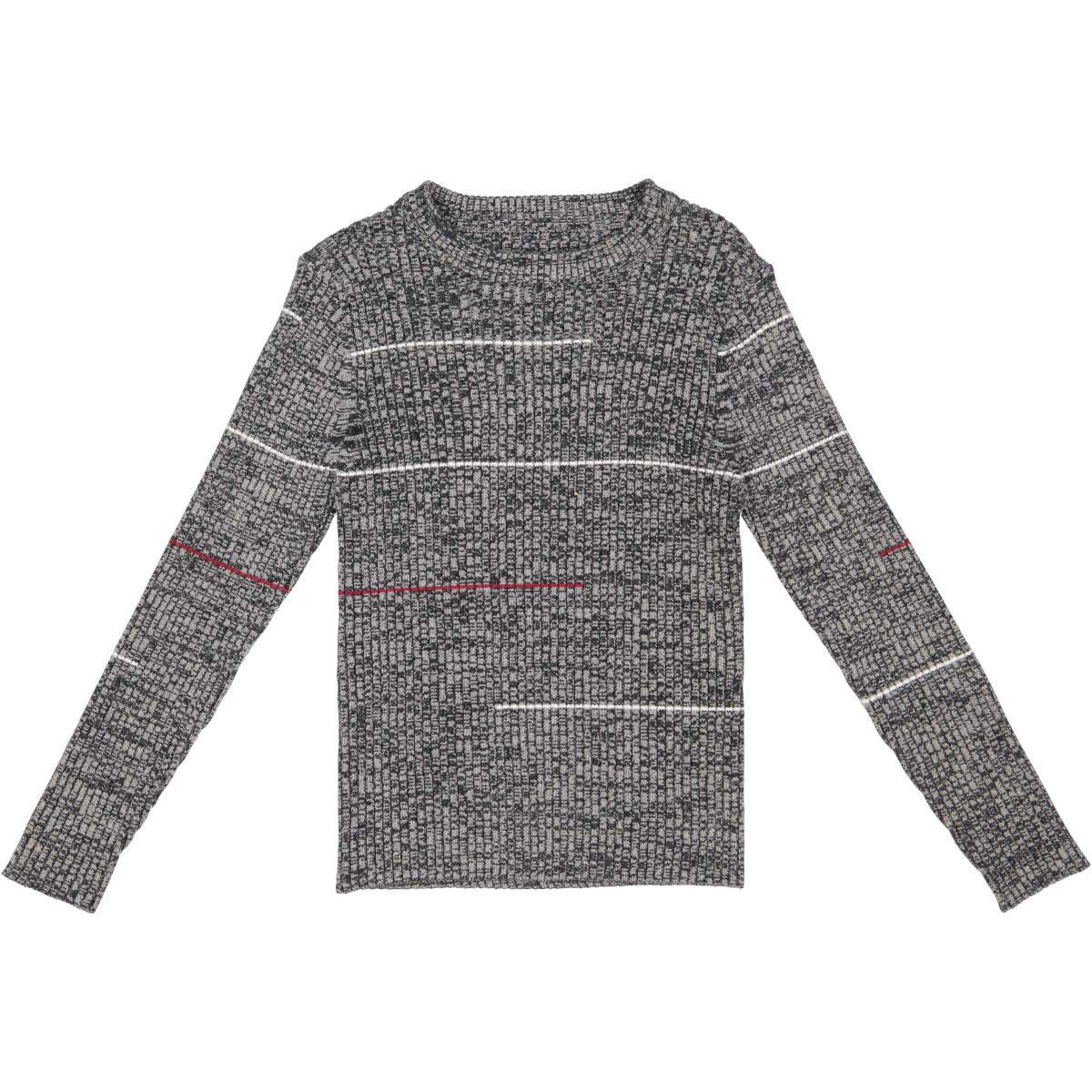 Belati Grey Melange Crewneck Sweater