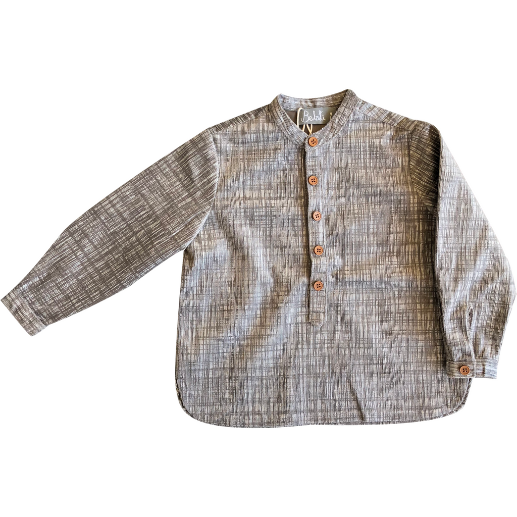Belati Grey Printed Shirt