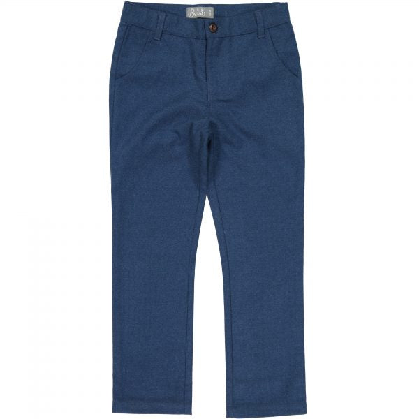 Belati Indigo Wool Slim Fit Pants