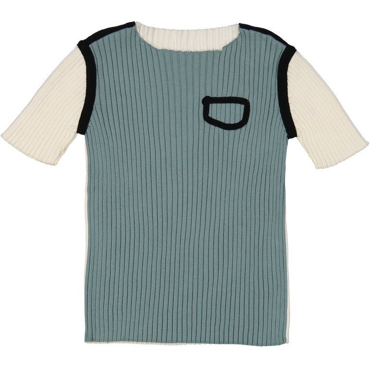 Belati Mint Ribbed Tee Shirt