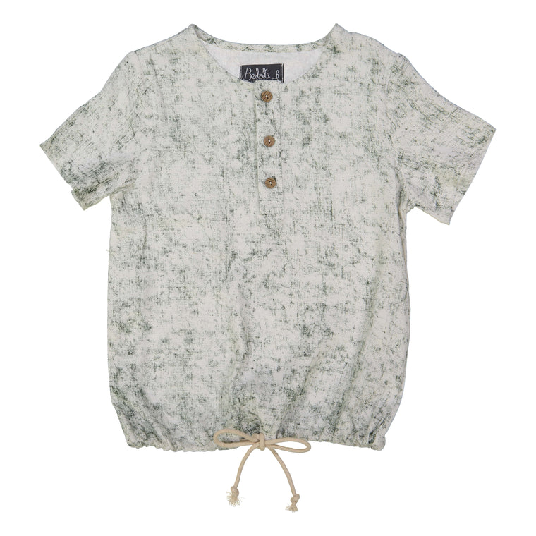Belati Olive Distressed Shirt