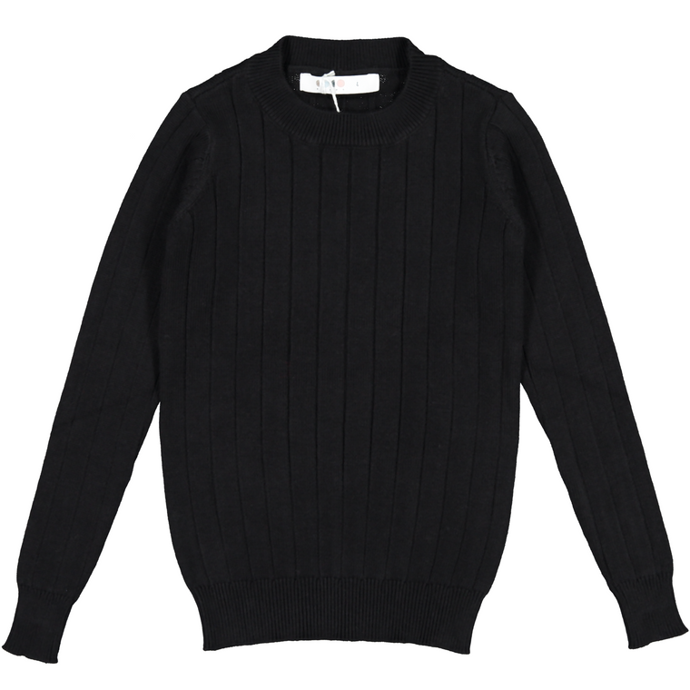 Coco Blanc Black Ribbed Sweater