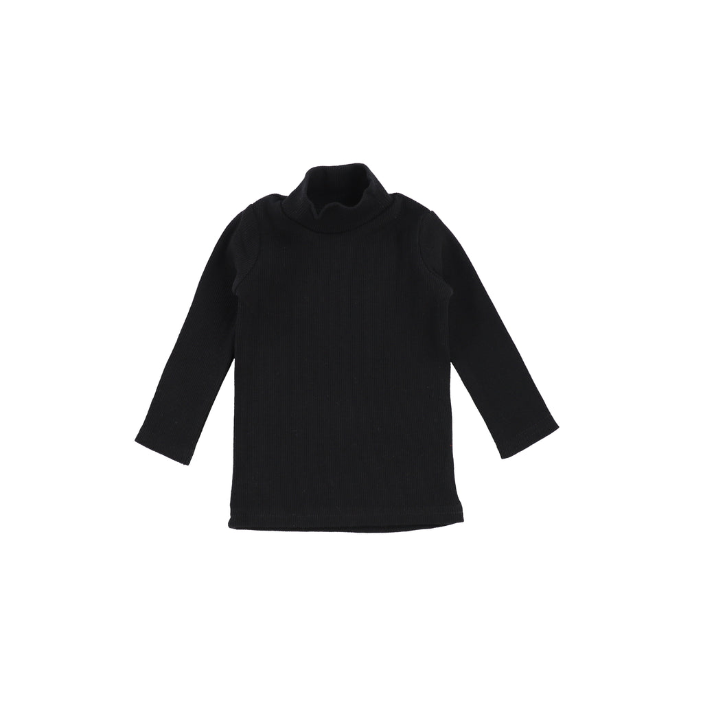 Lil Leggs Black Rib Turtleneck