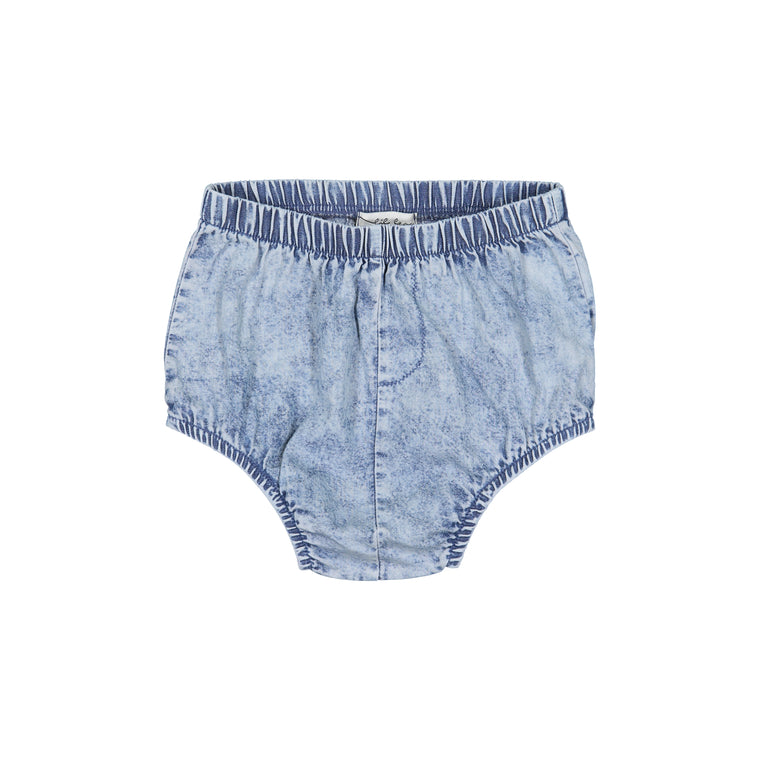 Lil Leggs Blue Wash Denim Bloomer
