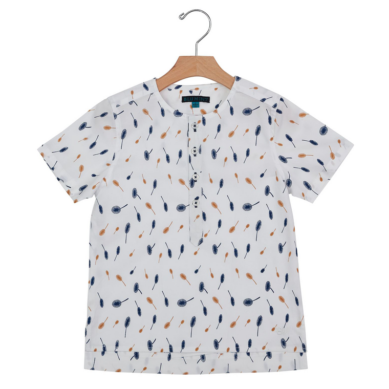 Blumint White/Navy/Gold Shirt