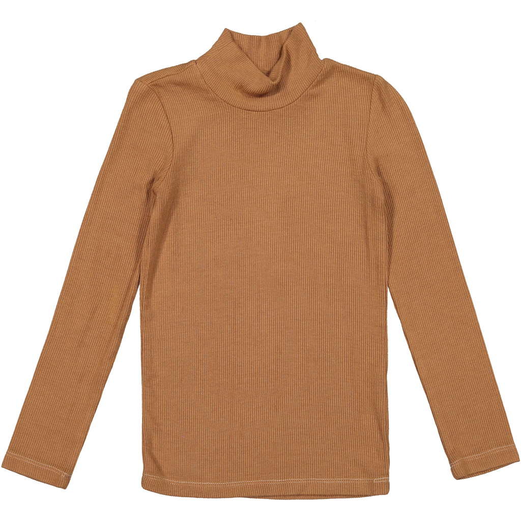 Coco Blanc Ribbed Turtleneck Shirt
