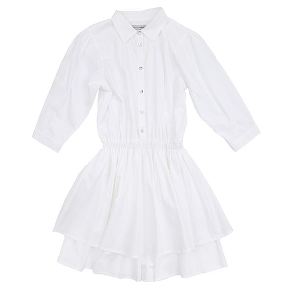 Christina Rohde White Collarded Dress
