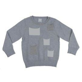 Clo Light Grey Pocket Crewneck