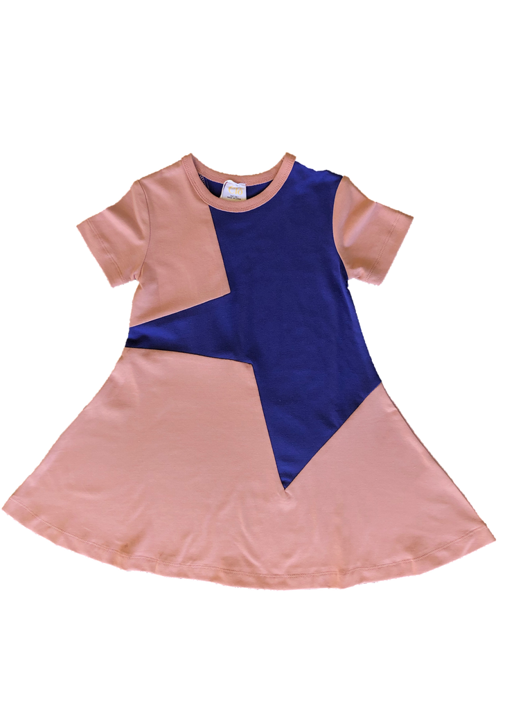 Clo Misty Rose/Blue Star Dress