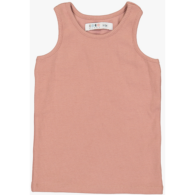 Coco Blanc Blush Pink Ribbed Knit Tank Top