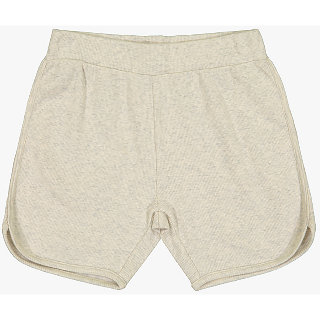 Coco Blanc Oatmeal Heather Ribbed Shorts