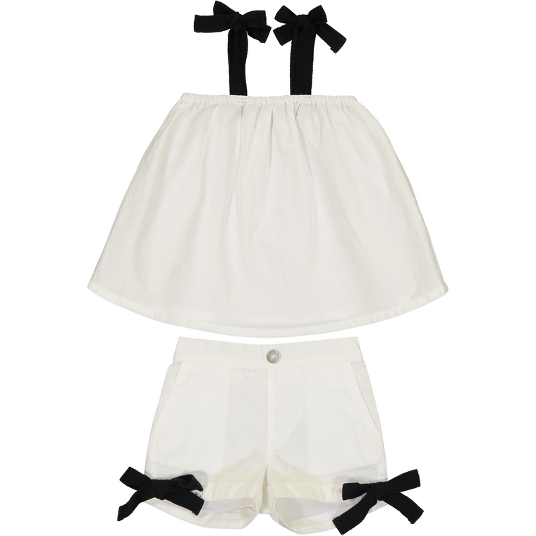 Coco Blanc Girls Two Piece Swing Set