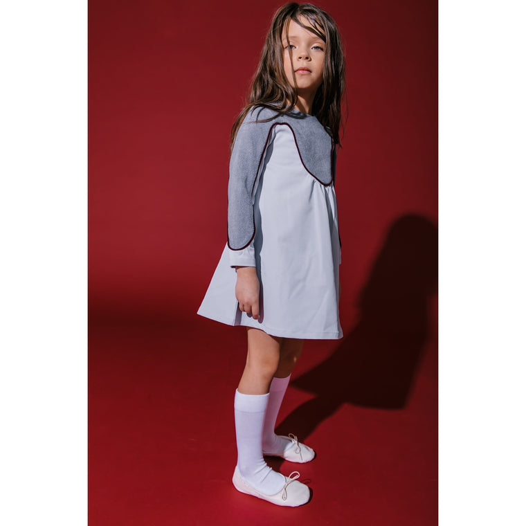 Kipp Grey Piped Dress