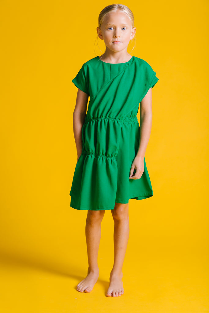 Kipp Green Elasticated Panel Dress